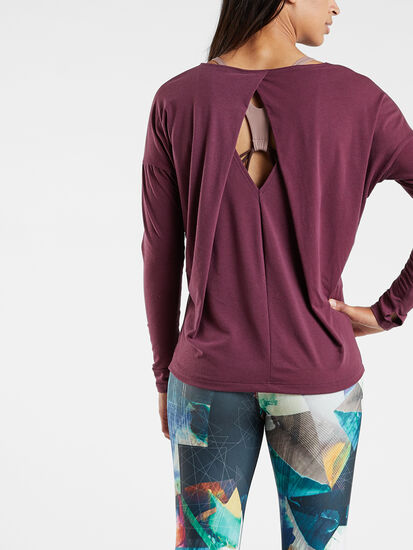 Diamond Back Long Sleeve Top: Image 4