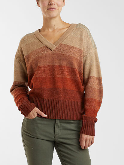 Speak Up V Neck Sweater: Model Image
