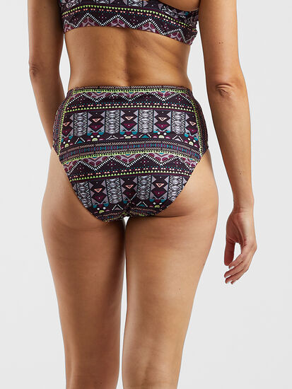 Francie High Waisted Bikini Bottom - Lago Niassa: Image 3