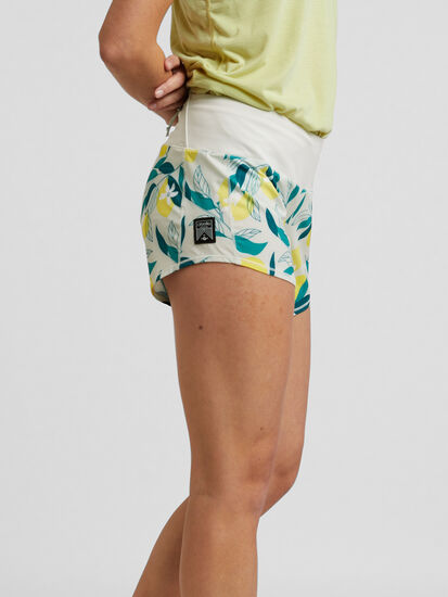 "Obsession Running Shorts 4"" - Floral: Image 3"