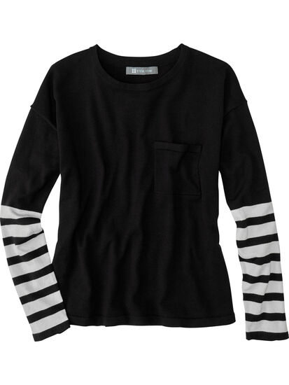 Synergy Crew Neck Sweater - Sleeve Stripe: Image 1