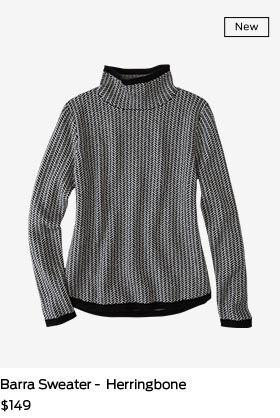Shop Barra Sweater in Herringbone