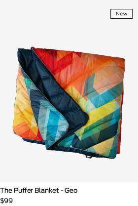 shop geo puffer blanket