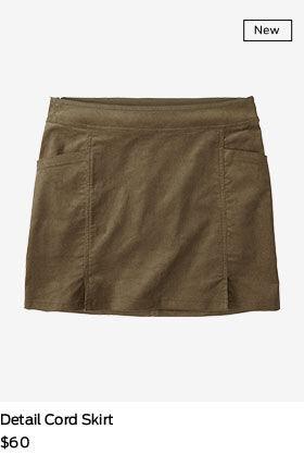 shop detail cord skirt