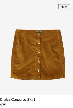 shop cruise corduroy skirt