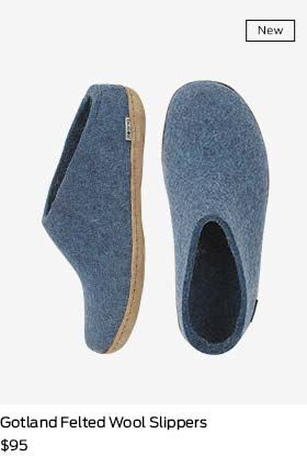 shop gotland felted wool slippers